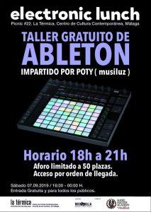 Taller gratuito de Ableton Live
